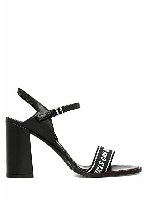 Zadig&Voltaire Kalın Topuklu Sandalet Siyah